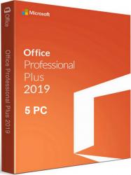 Microsoft Office Professional Plus 2019 All languages Windows PC Licenta electronica x 5 PC Aplicatii desktop