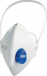 Masca de protectie respiratorie reutilizabila Drager FFP3 X-plore 1730 cu supapa polipropilena alb 5 straturi