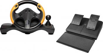 Set volan gaming cu pedale MYRIA MG7400 negru PS3/PS4/PC/XBOX ONE