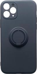 Husa premium Iphone 11 Pro silicon cu inel rotativ magnetic 360 grade Negru Huse Telefoane