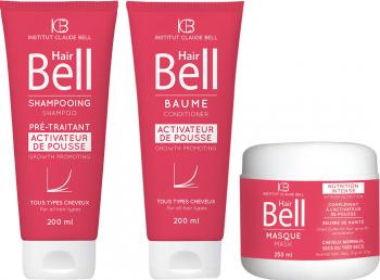 Pachet promo Hair Bell Crestere Par Sampon 200ml si Balsam 200ml si Masca 250ml Institut Claude Bell Sampon