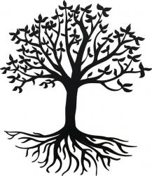 Decoratiune Copacul Vietii lemn 50 cm