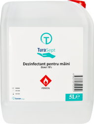 Dezinfectant pentru maini TuraSept 5L aviz biocid bactericid fungicid/levuricid virucid Gel antibacterian