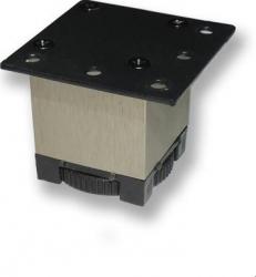 Picior metalic pentru mobilier H 50 mm finisaj otel inox periat profil patrat 40x40 mm fara masca AN1 Accesorii mobilier