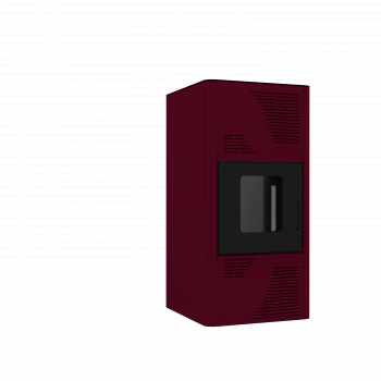 Termosemineu peleti Termax-Kamin PM 25 kW rosu Termoseminee