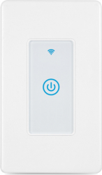 Intrerupator inteligent modular cu touch 1 modul 1 canal alb compatibil TuyaSmart SmartLife IFTTT Google Home si Amazon Alexa - model Prize si intrerupatoare inteligente