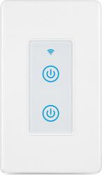 Intrerupator inteligent modular cu touch 1 modul 2 canale alb compatibil TuyaSmart SmartLife IFTTT Google Home si Amazon Alexa - model Prize si intrerupatoare inteligente