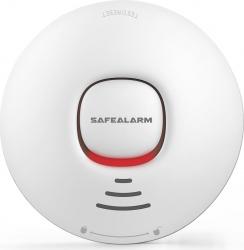 Senzor inteligent de fum WiFi cu baterie compatibil cu aplicatiile TuyaSmart si SmartLife model SFL-303W
