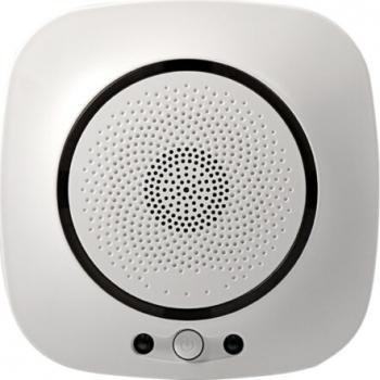 Senzor inteligent de gaz WiFi compatibil cu aplicatiile TuyaSmart si SmartLife alb model SFL-818 Kit Smart Home si senzori