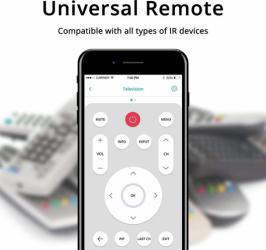 Telecomanda universala inteligenta WiFi negru model SFL-601 compatibila TuyaSmart SmartLife Google Home si Amazon Alexa Kit Smart Home si senzori