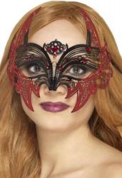 Masca de diavolita din filigran metalic Costume serbare