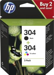 Set 2 Cartuse inkjet HP original OEM 304 /HP Black/color Cartuse Originale