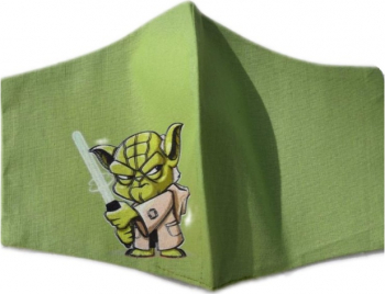 Masca protectie copii YODA din desene animate tip STAR WARS din bumbac verde reutilizabila Masti chirurgicale si reutilizabile