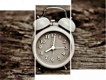 Set Tablouri Canvas 3 Piese Old Alarm Clock 20 x 40 cm Tablouri