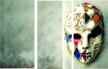 Set Tablouri Canvas 3 Piese Venetian Mask 20 x 40 cm Tablouri