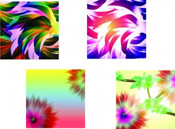 Set Tablouri Canvas 4 Piese Tribal Style 33 and times 33 cm Tablouri