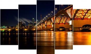 Set Tablouri Canvas 5 Piese Bridge 100 x 60 cm Tablouri