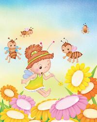 Tablou canvas pentru camera copii albinuta 50x40 cm Tablouri