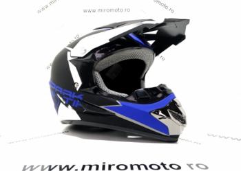 Casca Cross Albastru Marimea XL 61-62 Motociclete si Scutere