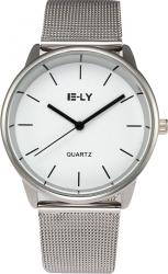 Ceas unisex casual Elegant Quartz Geneva E-LY model Premium E147 curea metal afisaj analog