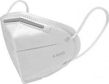 Set 5 bucati Masti de protectie cu banda metalica nas 4 straturi FFP2 KN95 N95 PM2.5 alb doty Masti chirurgicale si reutilizabile