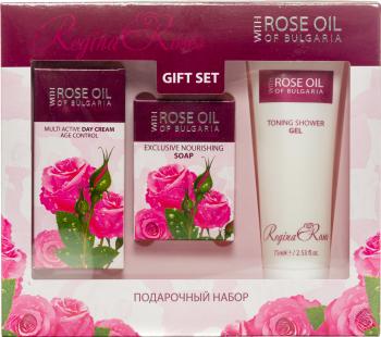 Set Cadou Regina Roses Crema de Zi Multi Activa 30gr Sapun Nutritiv 50gr Gel de Dus 75ml