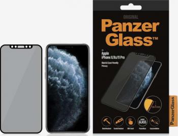 Folie Sticla Panzer Privacy pentru iPhone X XS 11 Pro Negru