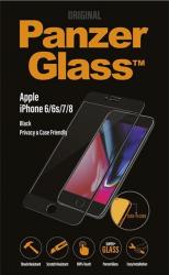 Folie Sticla Privacy Panzer pentru iPhone 6 6S 7 8 Negru