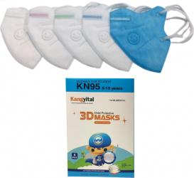 Masti de Protectie pentru copii KN95 5 Bucati 5-13 ani multicolor Masti chirurgicale si reutilizabile