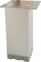 Picior metalic pentru mobilier H 100 mm finisaj aluminiu profil patrat 40x40 mm fara masca AN1 Accesorii mobilier