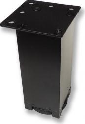 Picior metalic pentru mobilier H 100 mm finisaj negru profil patrat 40x40 mm fara masca AN1 Accesorii mobilier