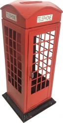 Pusculita cabina de telefon metal vintage Jucarii