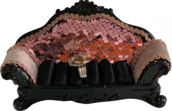 Suport inele canapea material textil Casete Bijuterii