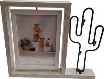 Rama foto cu suport de chei cactus 10 x 15 cm Rame Foto