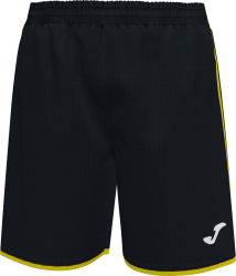 Pantalon sport Joma Liga Negru/Galben marimea 2XS 12 ani Pantaloni si colanti
