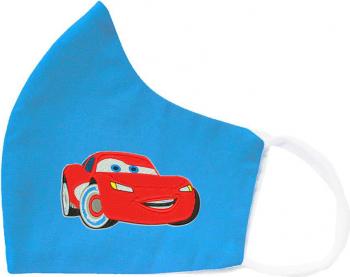 Set 3 Masti de Protectie pentru Copii Personalizate prin Broderie cu Fulger McQueen Bumbac 2 straturi Magic Mirror Fashion and reg Albastru Masti chirurgicale si reutilizabile