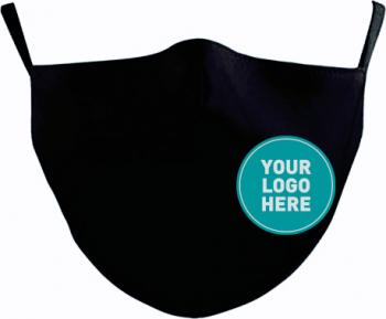 Set 5 Masti de Protectie din Bumbac Personalizate prin Broderie Reutilizabile 2 straturi Magic Mirror Fashion and reg Negru