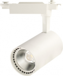 Proiector LED 30W - 30 000 ore iluminare comerciala directionabil pe sina monofazata LED Market B32 4000K lumina naturala Corp Alb Corpuri de iluminat