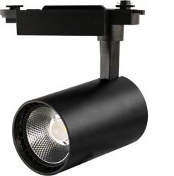 Proiector LED 30W - 30 000 ore iluminare comerciala directionabil pe sina monofazata LED Market B32 4000K lumina naturala Corp Negru Corpuri de iluminat