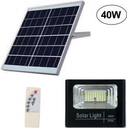 Proiector LED 40W cu panou solar si telecomanda Corpuri de iluminat