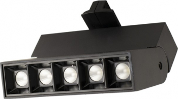 Spot LED 10W - 50 000 ore directionabil pe sina monofazata LED Market LM35-5BK 4000K lumina naturala Corp negru Corpuri de iluminat