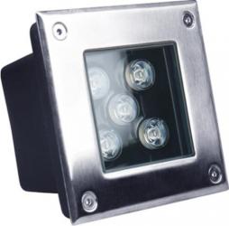 Spot patrat IP67 LED 5W - 50 000 ore incastrabil pentru pavaj LED Market 4500K lumina naturala Corpuri de iluminat