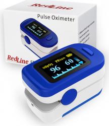 Pulsoximetru RedLine FS20C alb-albastru indica nivelul de saturatie a oxigenului masoara rata pulsului Pulsoximetre