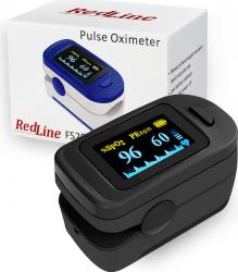 Pulsoximetru RedLine FS20C Negru Indica nivelul de saturatie a oxigenului din sange Masoara rata pulsului Avertizare son