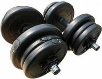 Set gantere PVC reglabile 20 kg HouseFit