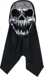 Masca deghizare Moartea cu acoperitoare neagra inclusa pentru costumatie de Halloween Topi Dreams Decoratiuni petreceri