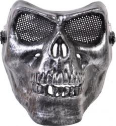 Masca deghizare schelet cap de mort imitatie fier argintiu pentru costumatie de Halloween Topi Dreams Decoratiuni petreceri