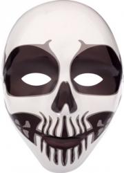Masca din plastic design craniu uman pentru petrecere horror Halloween alb negru Decoratiuni petreceri