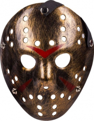 Masca din plastic imitatie fier auriu pentru costumatie de Halloween Topi Dreams Decoratiuni petreceri