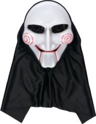 Masca din plastic model Moartea cu aspect malefic pentru petrecere horror Halloween alb cu negru Decoratiuni petreceri